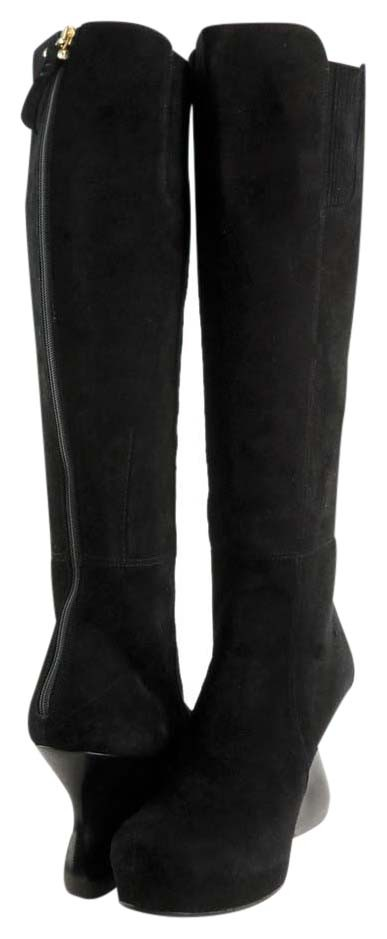 CoSTUME NATIONAL Black 1145384 Camoscio Suede Wedge Eur 41 Boots/Booties Size US 9.5 Narrow (Aa, N)