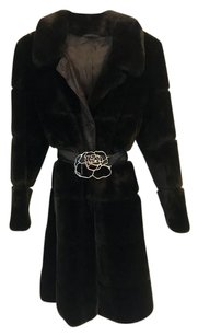 creations paris Mink Soft Luxury Versatile Pea Coat