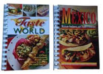 Creative Cookbook Two cookbooks: A Taste of Mexico & Taste of the World (Creative Cookbook Company)