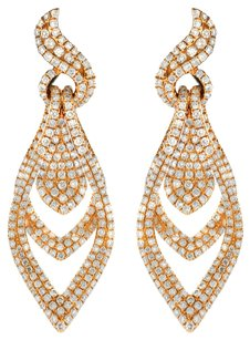 2.78CT 2.78CT Yellow Gold and Diamond Drop Earrings