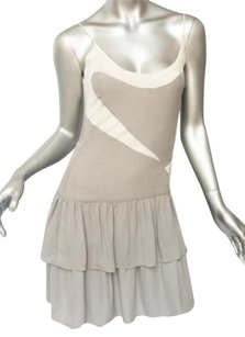 Cynthia Rowley Greywhite Silk Dress