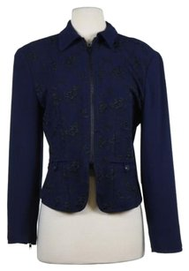 Cynthia Steffe Womens Navy Black Jacket
