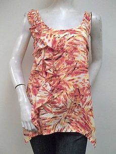 Cynthia Steffe Orange Top Multi-Color