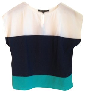 Cynthia Steffe Top White, Navy & Green