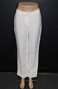 Dana Buchman Linen No Pockets Casual Dress Summer Fun 13482 Relaxed Pants Whites