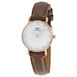 Daniel Wellington Classy Bristol Eggshell White Dial Brown Leather Ladies 0903DW.