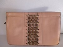 DANNIJO Lenox Chain Leather beige brass Clutch