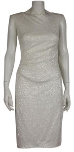 David Meister Womens Sheath Sequined Sleeveless Formal Party Dress