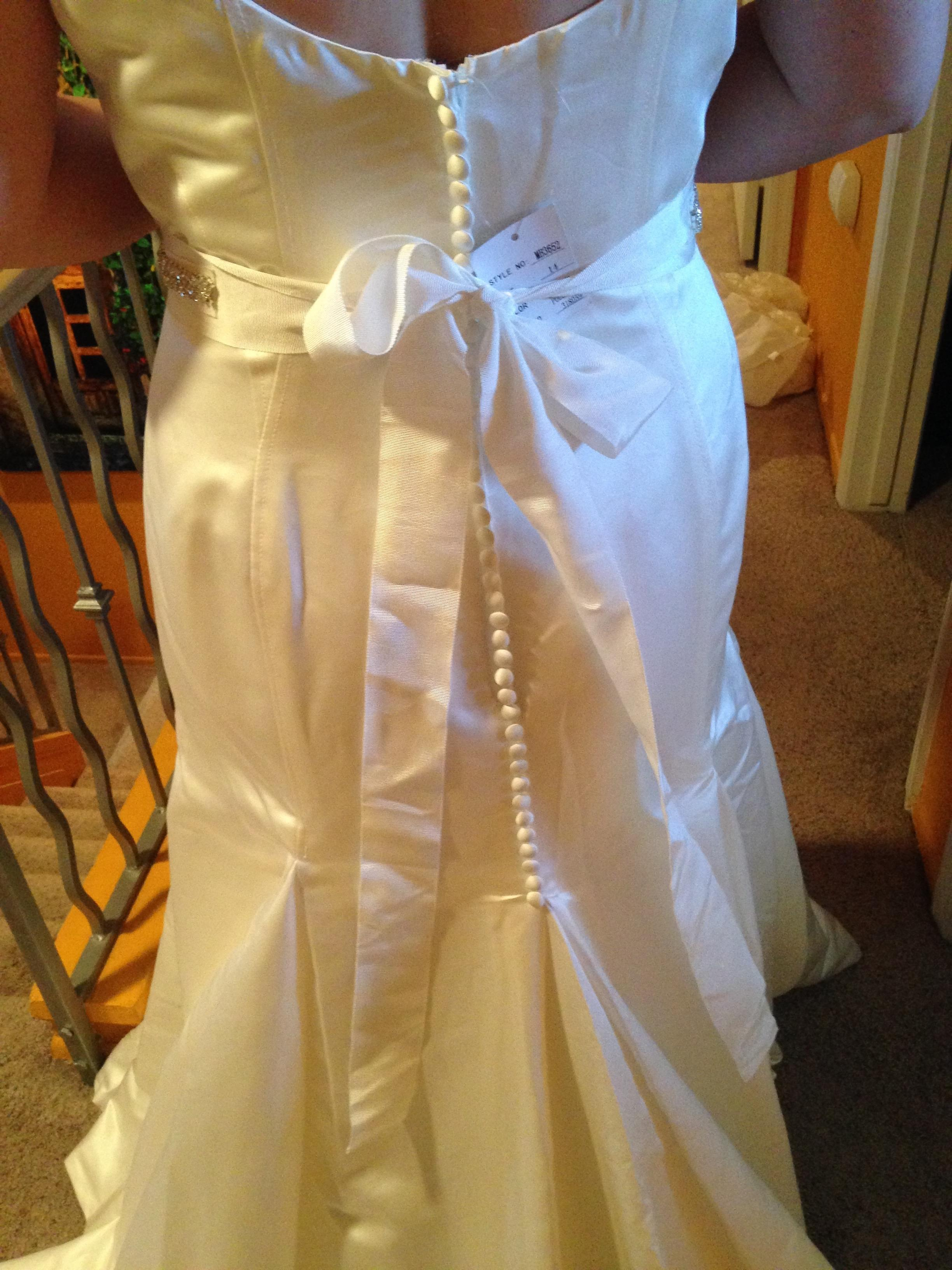 size 14 satin trumpet dress
