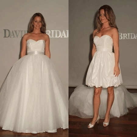 detachable skirt wedding dress david s bridal two in one sweetheart organza kp3265 3507