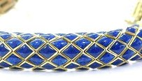 David Webb David Webb 18kt Blue Enamel Yellow Gold Bracelet 7