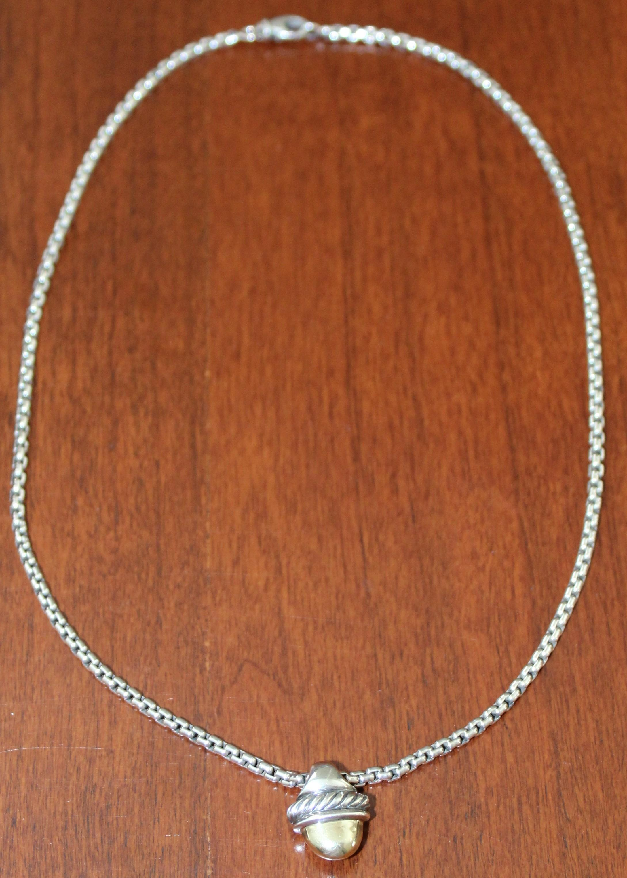 David Yurman Silver And Gold 45 Off Retired Sterling