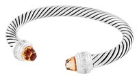 David Yurman Cable Classics Bracelet with Morganite and Diamonds (Medium)