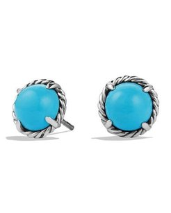 David Yurman Chatelaine Earrings with Turquoise