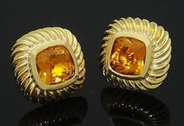 David Yurman David Yurman 18k Yellow Gold Citrine Stud Earrings E218