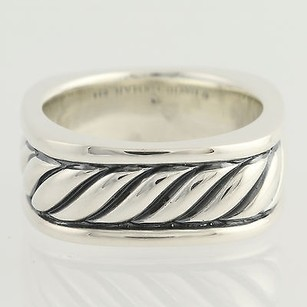 David Yurman David Yurman Cable Band Ring - Sterling Silver Mens 14 Polished