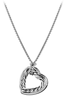 David Yurman David Yurman Cable Heart Large Pendant Necklace