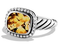David Yurman David Yurman Citrine 'Noblesse' ring w/ diamonds