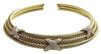 David Yurman David Yurman 18kt Triple Strand Diamond X Collar Apx 1.98ctw 94.7g Max064978