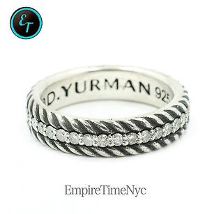 David Yurman David Yurman Pav Cable Band Ring With Diamonds Ref R05546mssadi