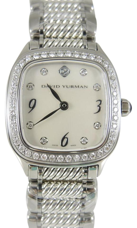david yurman david yurman stainless steel mother of pearl diamond watch