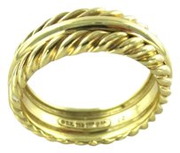 David Yurman DAVID YURMAN WEDDING BAND 18K SOLID YELLOW GOLD 13.1 GRAMS SZ 12 FINE DESIGNER