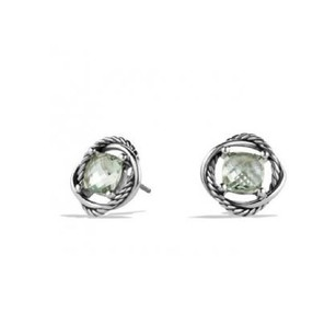 David Yurman Infinity Stud Earrings with Prasiolite