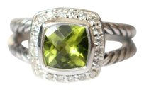 David Yurman Petite Albion Ring with Peridot and Diamonds