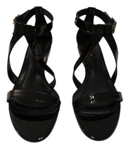 Delman Caryn Sleek Lines Made In Italy Black Sandals