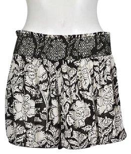 Denim & Supply Amp Womens Black Printed Casual Cropped Shorts Multi-Color