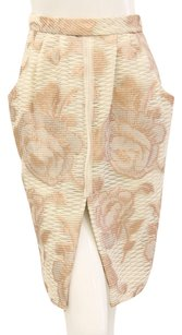 Dennis Basso Floral Flowers Pencil Ivory Skirt Ivory, Rose Gold
