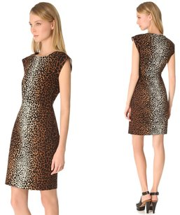Derek Lam Giraffe Animal Print Denim Dress