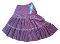 DG2 by Diane Gilman Skirt Brown with Turquoise Faux Beads
