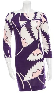 Diane von Furstenberg short dress Purple/White on Tradesy