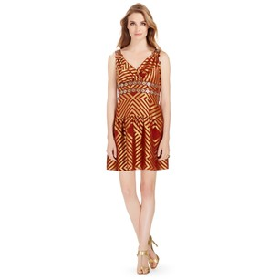 Diane von Furstenberg Embellished Shift Pretty Dress