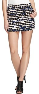 Diane von Furstenberg Polka Dot Dot Mini Mini Skirt Racing Tweed Peach