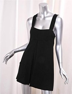 Diane von Furstenberg short dress Black Womens Knit Sleeveless Babydoll Shift Mini on Tradesy