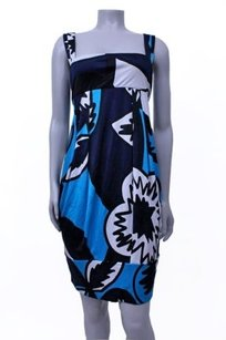 Diane von Furstenberg short dress blue black white Dvf Pattern Eliot on Tradesy