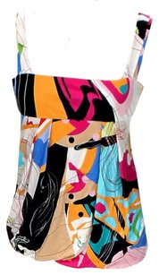 Diane von Furstenberg Silk Bright Art Deco Top