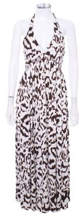 Brown and Ivory Maxi Dress by Diane von Furstenberg Stretchy Leopard Maxi