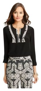 Diane von Furstenberg Top Black Panther Lace