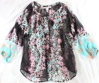 Diane von Furstenberg Floral Top Multi-Color