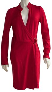 Diane von Furstenberg 100 Wool Detail Two Pocket Wrap Dress Hs1583 Sweater