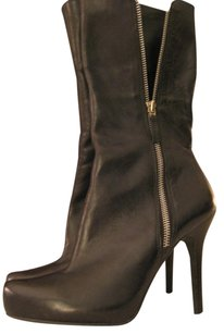 Diego di Lucca Leather Boot Heel Black Boots