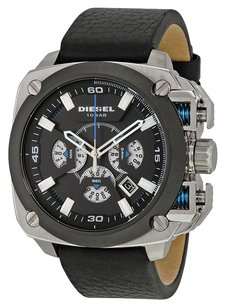 Diesel Diesel BAMF DZ7345 Chronograph Black Dial Black Leather Mens Watch