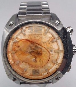 Diesel Diesel Dz4203 Chronograph Stainless Steel White Dial Watch Mens For Parts