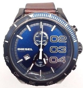 Diesel Diesel Dz4312 Double Downblue Chronograph Mens Brown Leather Watch