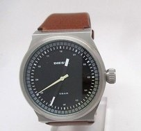 Diesel Diesel Mens Brown Leather Watch 44mm Case Dz1561 Minor Scratches