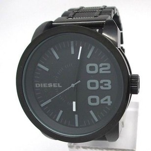 Diesel Diesel Mens Dz1371 Not So Basic Basic Black Watch Needs Battery Or Repair