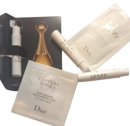 Christian Dior 5pcs Dior Jadore Edp Mini Parfum Body Milk & Capture Totale Eye Treatment CD